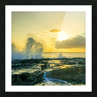 Waves Swirl at the Seaside Hawaii - Square Picture Frame print