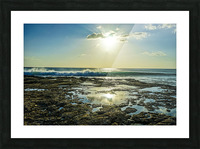 Waves Breaking on the Sea Shore   Hawaii Picture Frame print