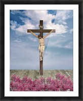 Jesus on the Cross Illustration Picture Frame print