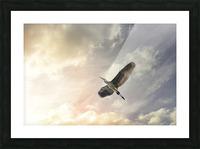 Heron Sunrise Picture Frame print