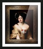 Portrait of Contessa Ortensia Ianna Stella by Jacob Ferdinand Voet Classical Fine Art Xzendor7 Old Masters Reproductions Picture Frame print
