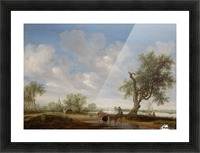 Landscape with a Road alongside a River Picture Frame print