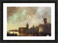 Windmill Picture Frame print