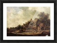 Peasant Huts with Sweep Well1633 Picture Frame print