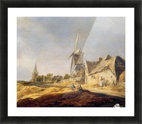 View on country road Sun Picture Frame print