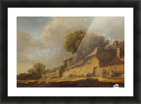 Landscape with a Peasant Cottage Picture Frame print