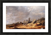 Dune Landscape with animals Picture Frame print