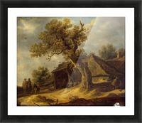Landscape with Oak Picture Frame print