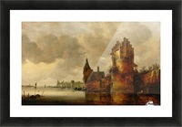 Estuary with Round Tower Picture Frame print
