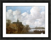 Landscape with a Ferry and a Church Picture Frame print