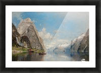 View of a Fjord Picture Frame print