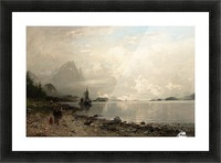 By the lake Picture Frame print