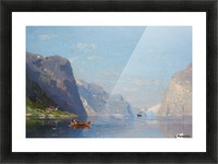 Two Norwegian Fjord Landscapes Picture Frame print