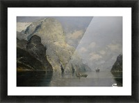 Blue Skies at Fjord Picture Frame print