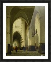 Interieur van de Grote of Sint Bavokerk te Haarlem Picture Frame print