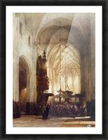 Church In Hattem Sun Picture Frame print
