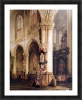 St Jacobskerk Antwerpen Sun Picture Frame print