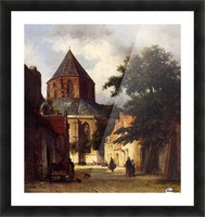 Street with Church Picture Frame print