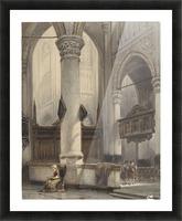 Interieur van de Nieuwe Kerk te Delft Picture Frame print