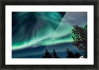 Green sky Picture Frame print