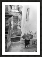 Alfama steps Picture Frame print