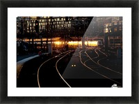 Golden train Picture Frame print