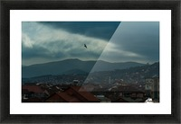 Macedonian blue cityscape Picture Frame print