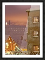 Midwinter mine town Picture Frame print