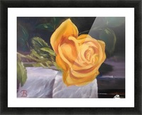 Single rose   Picture Frame print