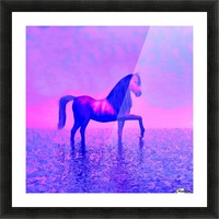 lonely horse Picture Frame print