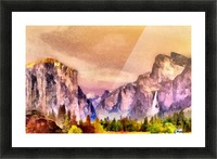 Yosemite park2 Picture Frame print