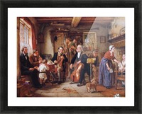 A Philharmonic Rehearsal in a Farmhouse Picture Frame print