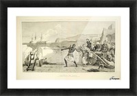 1874 Wood Engraving Picture Frame print