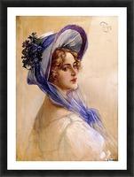 Youbg lady with purple hat Impression et Cadre photo
