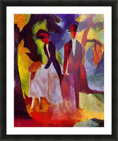 Folks at the blue sea by August Macke Picture Frame print