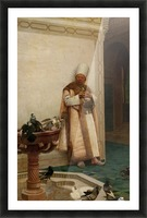 A Grand White Enuch Watching Doves Picture Frame print