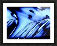 Aqua Blue Picture Frame print