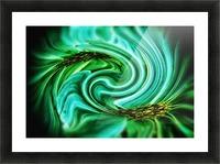 Flower Swirl Picture Frame print