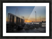 Fountain Sunset Picture Frame print