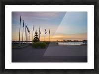 Sunset on the Lake Picture Frame print