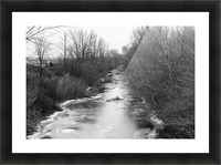 Frozen Wetlands Picture Frame print
