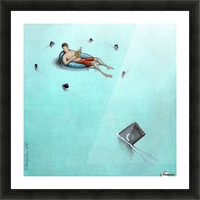 Sharks Picture Frame print