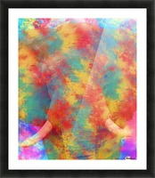 Abstract Elephant Picture Frame print