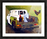 Hitching a Ride to Town Picture Frame print