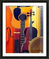 Blue Grass to Brahms Picture Frame print