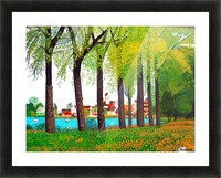 Swiss Village Spring Day Picture Frame print