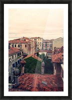 City roofs Picture Frame print