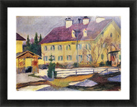 Hospital in Tegern Sea by August Macke Picture Frame print
