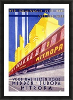 Poster Mitropa Midden - Europa, 1929 Picture Frame print