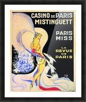 Casino De Paris Mistenguett vintage poster Picture Frame print